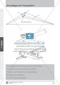 Grundlagen der Perspektive: Überblicksfolie über ein Projekt zu einem Flugobjekt Preview 1
