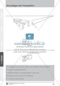 Grundlagen der Perspektive: Überblicksfolie zu einem Projekt zu Tischen, Stühlen und Buchstaben Preview 1