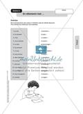 Stationenlernen zum Präsens: Stationen 5 und 7 - Die Verben. Übersetzungsaufgabe gemischter Verben und vervollständigen einer Konjugationstabelle zu den Verben