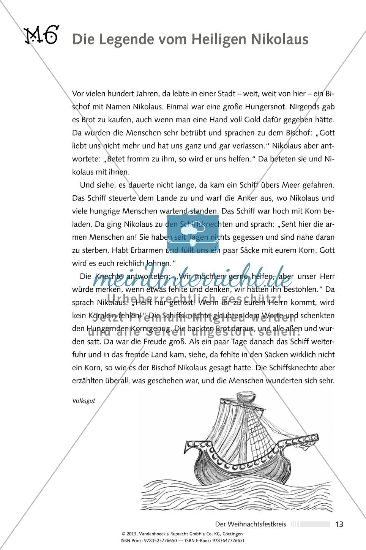 Der Weihnachtsfestkreis: Nikolaus. Arbeitsmaterial Preview 2