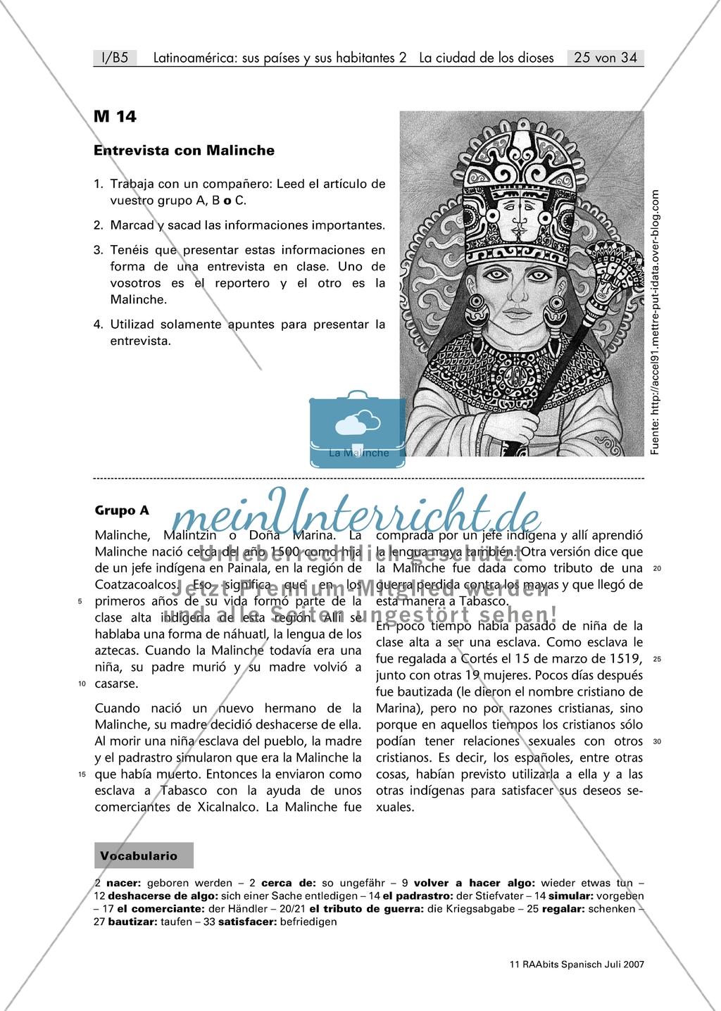 Sammeln Von Informationen über La Malinche Durch Das
