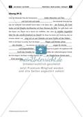 Arbeitsblatt mit Lückentext und Lösungen zur Beschreibung des Werkes