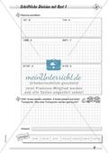 Differenziertes Übungsmaterial zum Dividieren - schriftliches Rechnen mit Rest. Preview 1