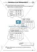 Differenziertes Übungsmaterial zum Subtrahieren - Subtrahieren in der Stellenwerttafel. Preview 2