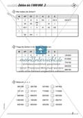 Zahlenraum bis 1 000 000 - Große Zahlen in der Stellenwerttafel Preview 2