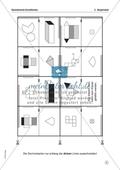 Dominospiele zum Thema Geometrie - Körpernetze. Preview 1