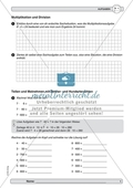 Verbesserung der Grundfähigkeiten im Kopfrechnen - Multiplikation und Division mit Zehner- bzw. Hunderterzahlen. Preview 1