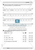 Material zur Verbesserung der Grundfähigkeiten im Zahlenraum - Zahlenstrahl und Zahlenrelationen. Preview 2