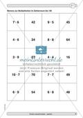 Material zur Verbesserung der Grundfähigkeiten im Kopfrechnen - Memory zur Multiplikation im Zahlenraum bis 100. Preview 1