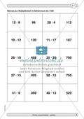 Material zur Verbesserung der Grundfähigkeiten im Kopfrechnen - Memory zur Multiplikation im Zahlenraum bis 100. Preview 2