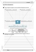 Material zur Verbesserung der schiftlichen Rechenverfahren - erste Übungen zum Multiplikationsverfahren. Preview 3