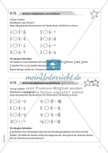 Material für eine Freiarbeit zum Thema Bruchzahlen - Brüche multiplizieren und dividieren. Preview 2