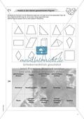 Material für eine Freiarbeit zum Thema Geometrische Figuren - ebene Figuren durch ein Puzzle kennenlernen. Preview 1
