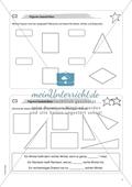 Material für eine Freiarbeit zum Thema Geometrische Figuren - Figuren beschriften. Preview 1