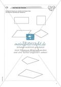 Material für eine Freiarbeit zum Thema Geometrische Figuren - Das Haus der Vierecke. Preview 3
