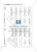 Material für eine Freiarbeit zum Thema Geometrische Figuren - Das Haus der Vierecke. Preview 4