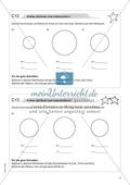 Material für eine Freiarbeit zum Thema Geometrische Figuren - Kreise zeichnen und untersuchen. Preview 1