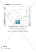 Material für eine Freiarbeit zum Thema Geometrische Figuren - Winkel zeichnen, messen und beschriften. Preview 4