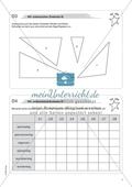 Material für eine Freiarbeit zum Thema Geometrische Flächen - Wir untersuchen Dreiecke. Preview 2