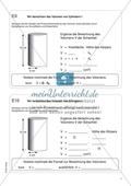 Freiarbeit zum Thema: Geometrische Körper - Wir berechnen das Volumen von Zylindern. Preview 1