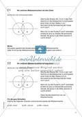 Aufgaben für eine Freiarbeit zum Thema: Zeichnen und Berechnen von Flächen - Mittelsenkrechten mit dem Zirkel zeichnen. Preview 1