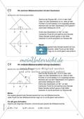 Aufgaben für eine Freiarbeit zum Thema: Zeichnen und Berechnen von Flächen - Mittelsenkrechten mit dem Geodreieck zeichnen. Preview 1