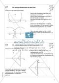 Aufgaben für eine Freiarbeit zum Thema: Zeichnen und Berechnen von Flächen - Senkrechten mit Zirkel und Geodreieck zeichnen. Preview 1