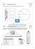 Aufgaben für eine Freiarbeit zum Thema: Zeichnen und Berechnen von Flächen - Bezeichnungen im Kreis. Preview 1