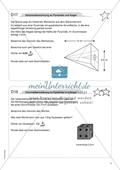 Aufgaben für eine Freiarbeit zum Thema: Geometrische Körper - Volumenberechnung an Pyramide und Kegel. Preview 1