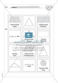 Aufgaben für eine Freiarbeit zum Thema: Geometrische Flächen - Memory. Preview 2