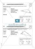 Aufgaben für eine Freiarbeit zum Thema: Geometrische Flächen - Dreiecke mit Zirkel und Geodreieck zeichnen. Preview 2