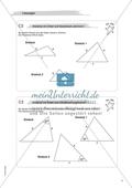Aufgaben für eine Freiarbeit zum Thema: Geometrische Flächen - Dreiecke mit Zirkel und Geodreieck zeichnen. Preview 3