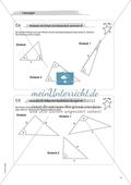 Aufgaben für eine Freiarbeit zum Thema: Geometrische Flächen - Dreiecke mit Zirkel und Geodreieck zeichnen. Preview 4