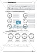 Größen und Messen: Uhrzeit ablesen Preview 2