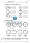 Größen und Messen: Uhrzeit ablesen Preview 3