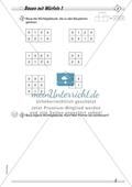 Geometrie: Geometrische Körper - Baupläne zu Würfelgebäuden in drei Schwierigkeitsstufen + Lösungen Preview 1