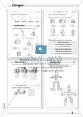 Geometrie: Geometrische Körper - Eigenschaften verschiedener geometrischer Körper in drei Schwierigkeitsstufen Preview 4