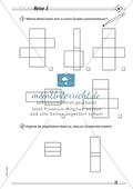 Geometrie: Geometrische Körper - Netze geometrischer Körper in drei Schwierigkeitsstufen Preview 3