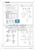 Geometrie: Geometrische Körper - Netze geometrischer Körper in drei Schwierigkeitsstufen Preview 4