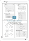 Symmetrie: Spiegelachsen durch Falten und mit dem Geodreieck ermitteln und Spiegelbilder zeichnen. Mit Lösung. Preview 3