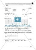 Teilbarkeit von natürlichen Zahlen: Klassenarbeit 1 (leicht) Preview 1