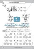Mathematik, Grundrechenarten, Zahlen & Operationen, Addition, Rechengesetze, zahlenraum bis 10