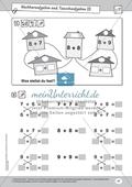 Mathematik, Grundrechenarten, Zahlen & Operationen, verdoppeln, Rechengesetze, Nachbarzahlen, Addition