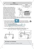 Gesetz von Archimedes - Arbeitsblatt mit Geschichte und Aufgaben Preview 1