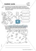Jumbled words: Sätze zum Begrüßen und Vorstellen. Arbeitsmaterial mit Lösungen Preview 1