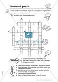 Crossword puzzle: Hobbys und Sport. Arbeitsmaterial mit Lösungen Preview 1