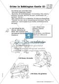 Crime in Bobbington Castle: Uhrzeiten und Tageszeiten. Arbeitsmaterial mit Lösungen Preview 2