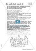 The volleyball match: Kleidung und Körperteile. Arbeitsmaterial mit Lösungen Preview 2
