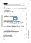Grammar: present tenses as future. Worksheet and solution Preview 1