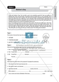 Text work: Mother's Day. Worksheet and solution Preview 1
